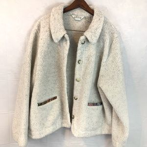 Orvis Button Up Sweater Jacket Carpet Oatmeal